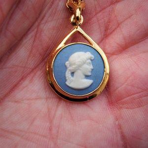 Three Graces Vintage Cameo Necklace Greek Mythology Wedgwood Jewelry Three Women